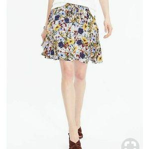 Banana Republic white floral skirt